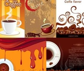 Coffee Poster design elements vector material
