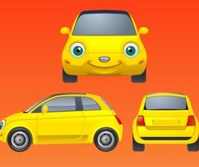 Smiling Car vector material