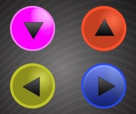 Round Button Pack vector