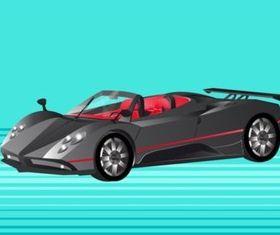 Pagani ZondSports Car vector