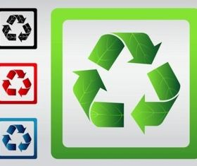 Recycle Signs set vector