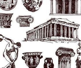 Greek culture graphic vector