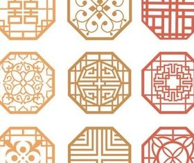 Chinese Color Ornaments vector