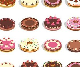 Color Cakes set vector