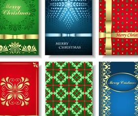Color Christmas Cards vector