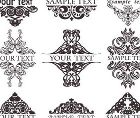 Ornate Vintage Elements vector graphic