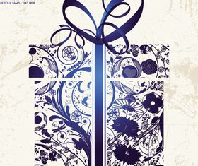 Gift box grunge background vector