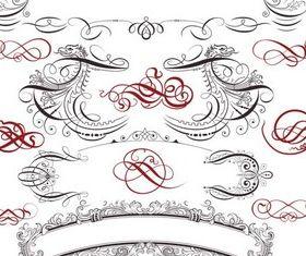 Stylish Swirl Elements vectors graphic