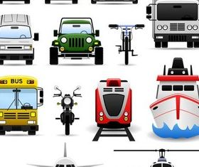Transport Icons design vectors