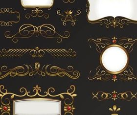 Gold Ornate Elements vector