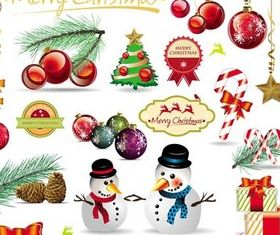 Chistmas Elements vectors graphics