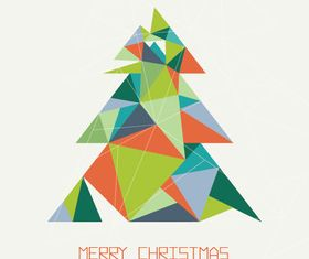 Tangram christmas tree vector