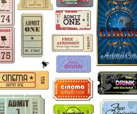 Movie Ticket vectors material