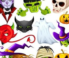Halloween Characters art vector