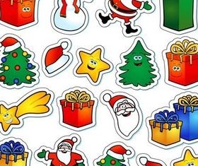 Funny X-mas Elements vector
