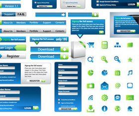 Web elements set 2 Illustration vector