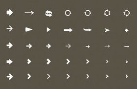 White arrow icons design vector