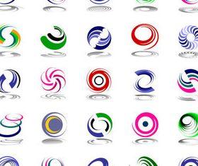 Abstract logos set vector set