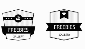 Black and White lables vector graphics
