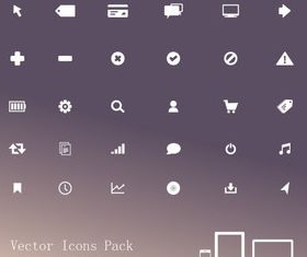 White web icons vectors graphics