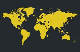 World Map yellow vector