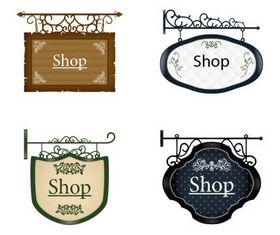 Vintage Hang tags vectors graphics