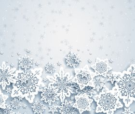 Paper snowflake background 1 creative vector