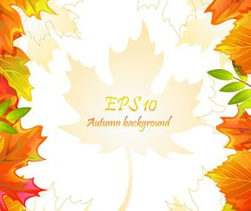 Autumn leaves background 2 vector