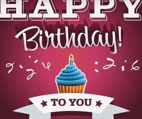 Happy Birthday cards 1 vector