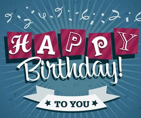 Happy Birthday cards 2 vector