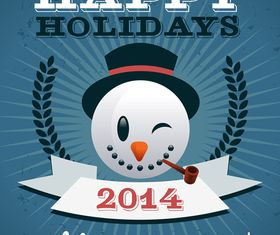 Happy holiday cards 2 vector