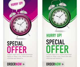 Alarm Clock banner design vector