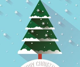 3D Christmas tree background vector graphic