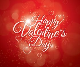 Valentine red background vector design