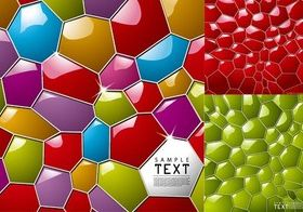 Three-dimensional colorful honeycomb background vector graphics
