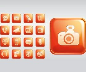 Shiny Square Icons vector