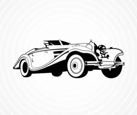 Vintage Roadster vector design