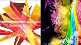 Abstract Backgrounds art vector