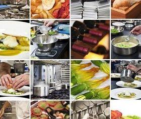 Restaurant collage vectors graphic