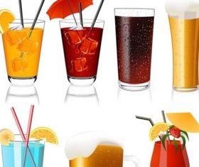 cool drink vector