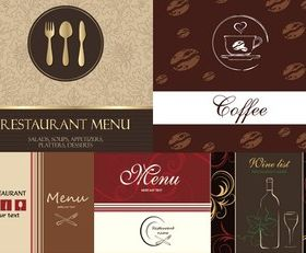 Western-style food menu cover background Illustration vector