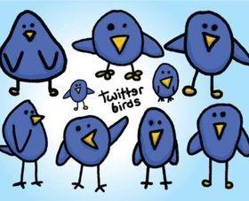 Free Twitter Birds Vectors design