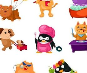 Cartoon Animals free vector