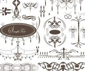 Ornament Elements art design vectors