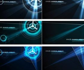 Simple light effect technology background creative vector