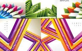 Three-dimensional geometric background vector graphics