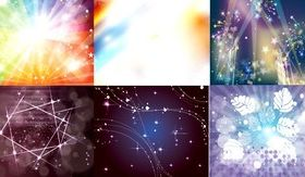 Different gorgeous light background vector