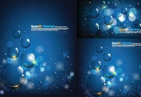 Icy blue water background design vector