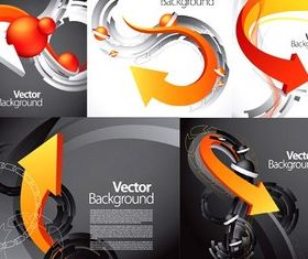 Dynamic arrow business background design vector