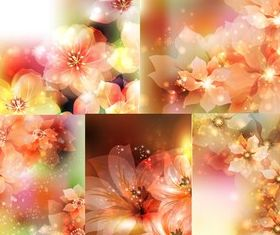 Colorful dream flower background creative vector
